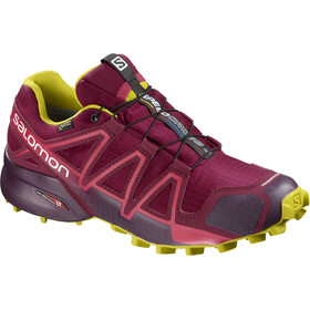 Salomon Speedcross 4 GTX Shoes Women Beet Red/Potent Purple/Citronelle